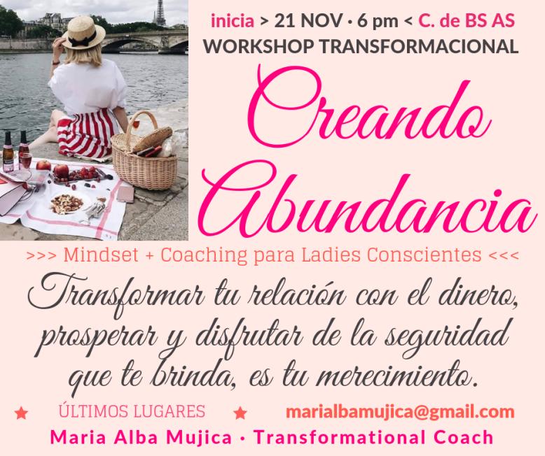 WORKSHOP CREANDO ABUNDANCIA CIUDAD DE BUENOS AIRES